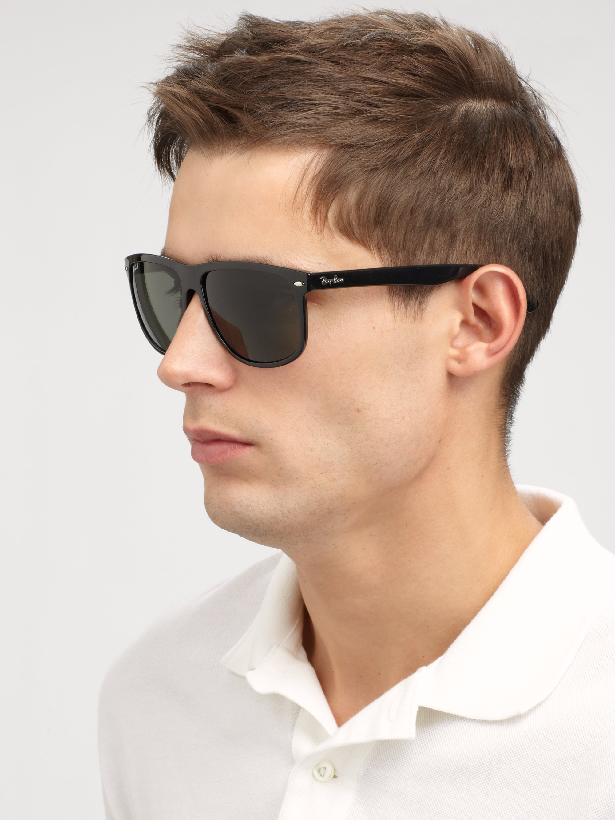 0e2353b99f Ray-ban Flat-top Boyfriend Wayfarer Sunglasses in Black for Men