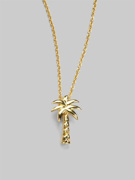 roberto coin 18k yellow gold palm tree necklace in gold