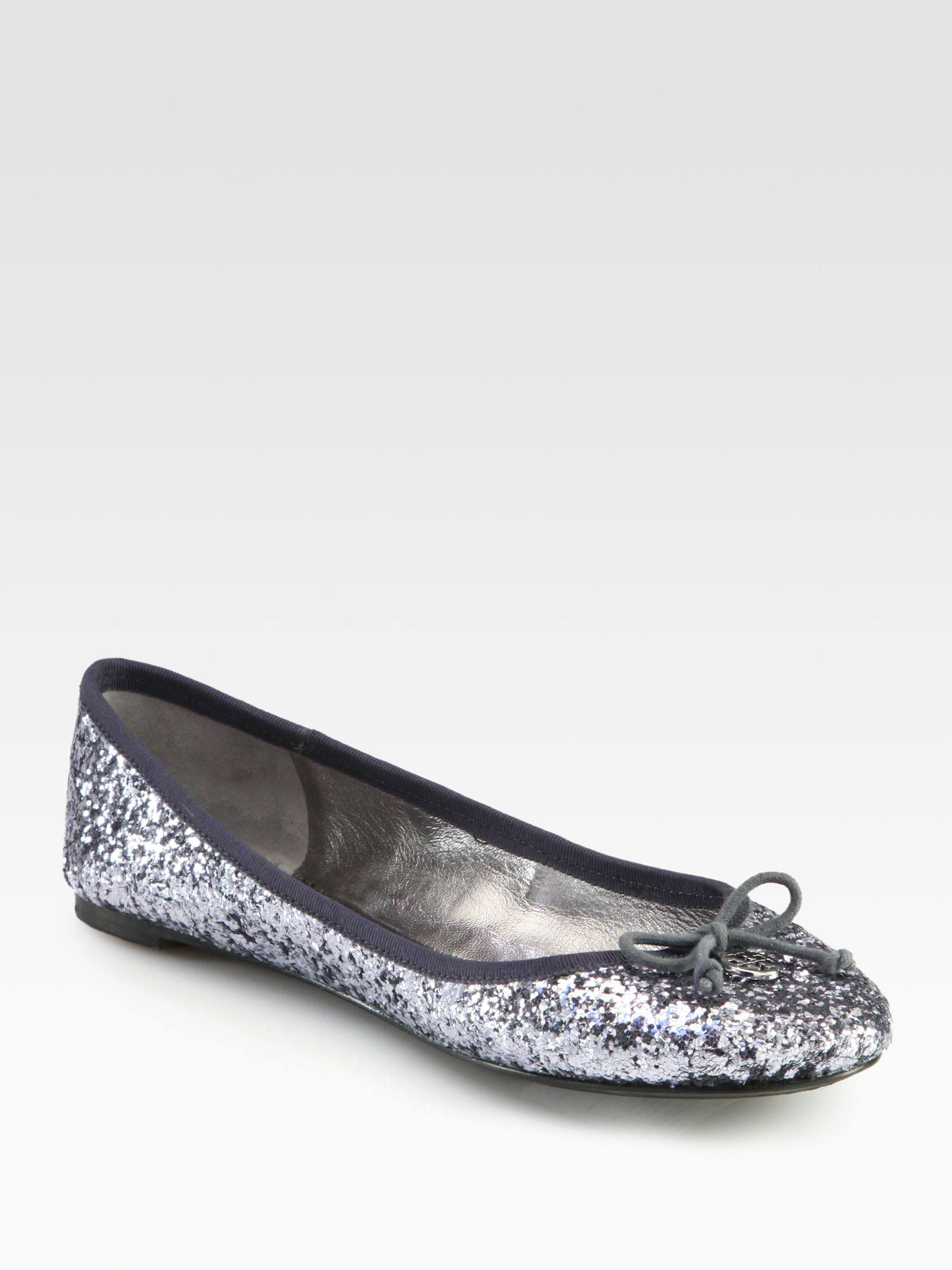 53f1a37fe81 Lyst - Tory Burch Chelsea Glitter Ballet Flats in Metallic