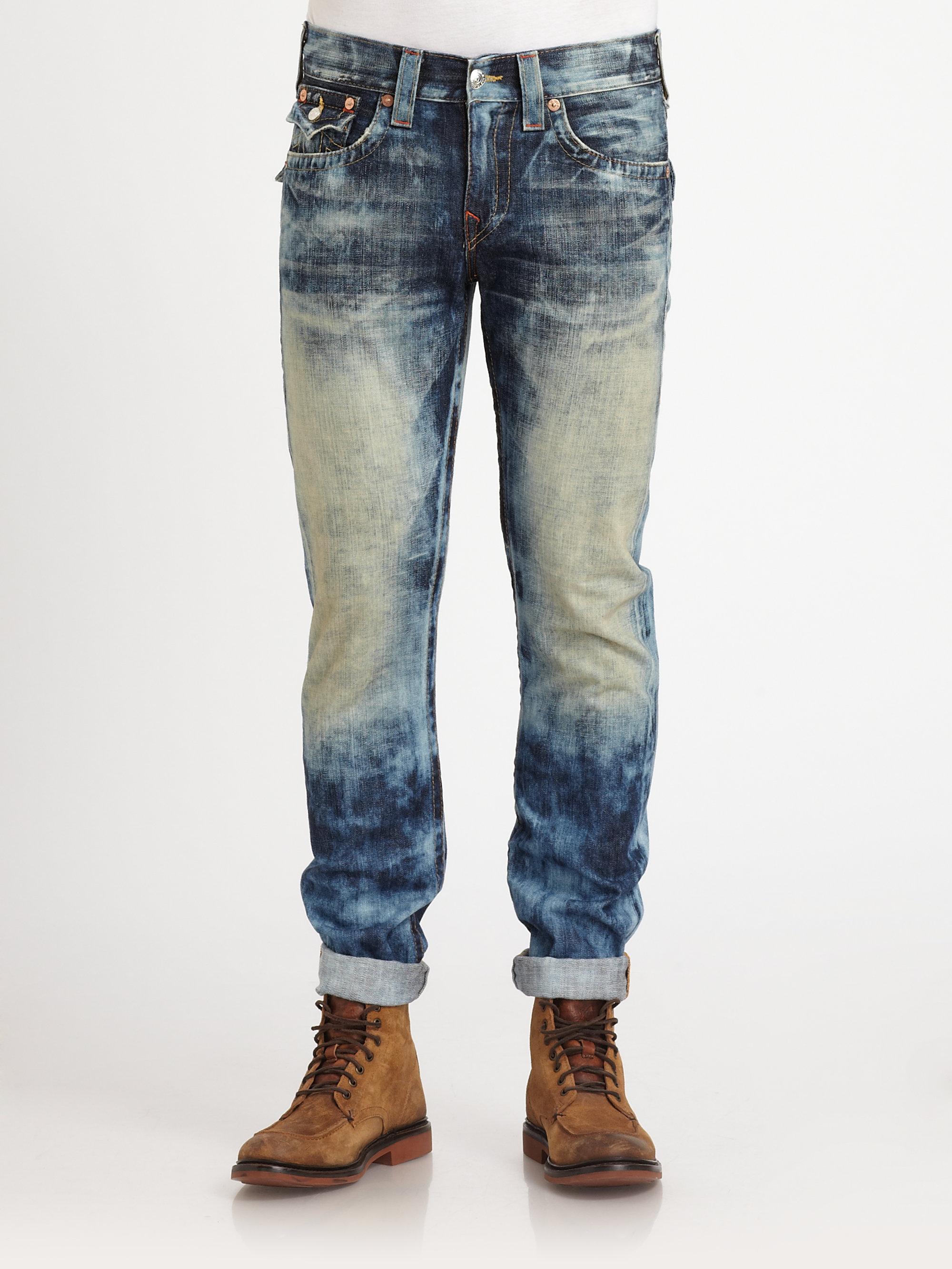 lyst true religion ricky straightleg jeans in blue for men. Black Bedroom Furniture Sets. Home Design Ideas