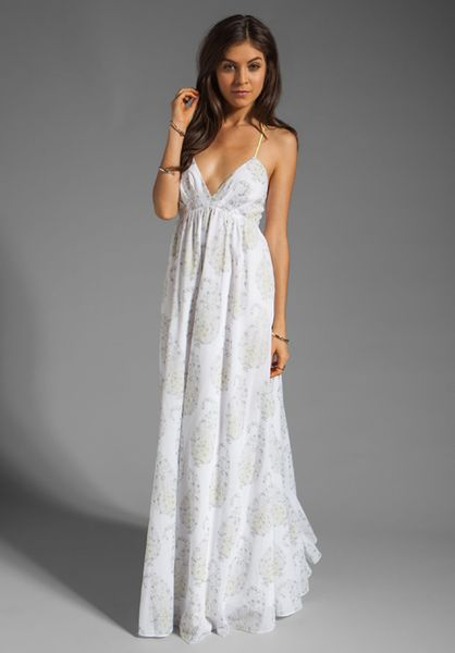 Rebecca Taylor Voile Gown In White In White Lyst