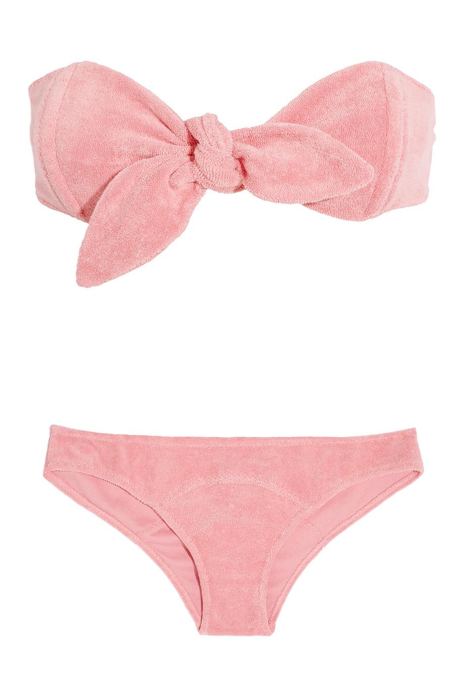 2447b78ec2 Lisa Marie Fernandez Poppy Terry Bandeau Bikini in Pink - Lyst
