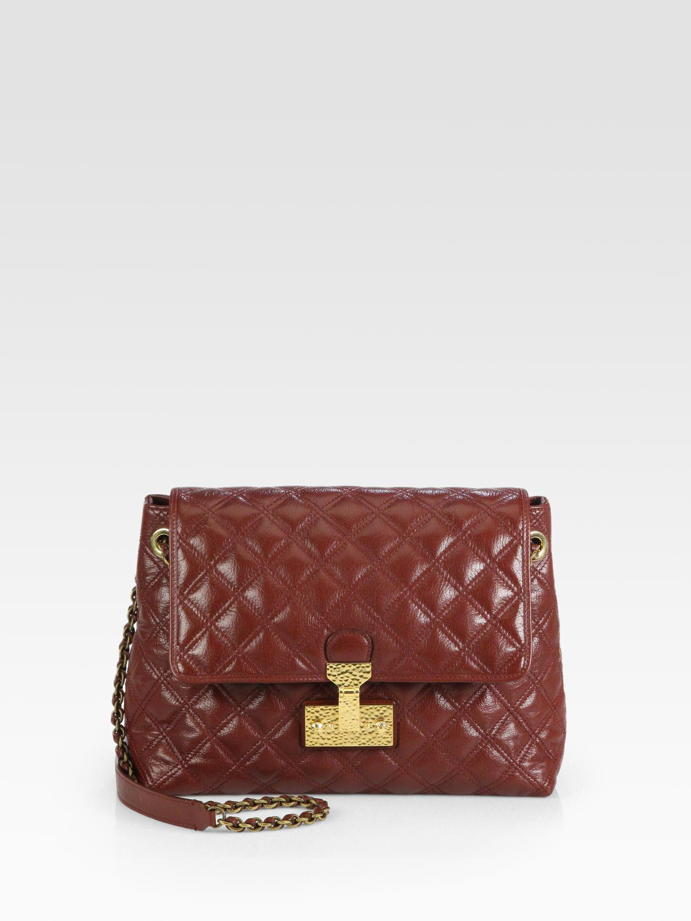 2d4a084d3265 Marc Jacobs Baroque Xl Single Quilted Shoulder Bag in Brown - Lyst