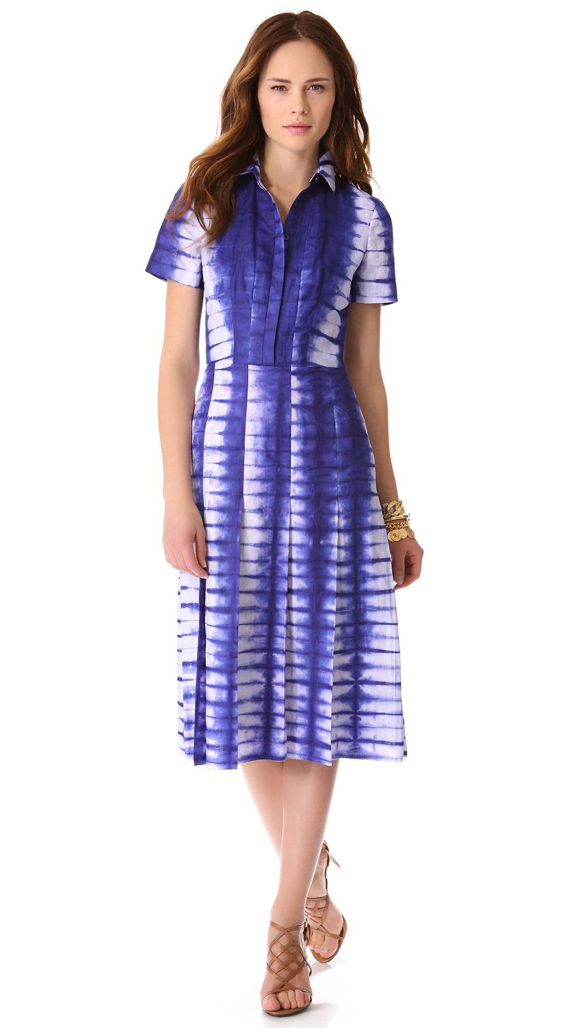Lyst - Tory Burch Jasmyn Tie Dye Dress in Blue
