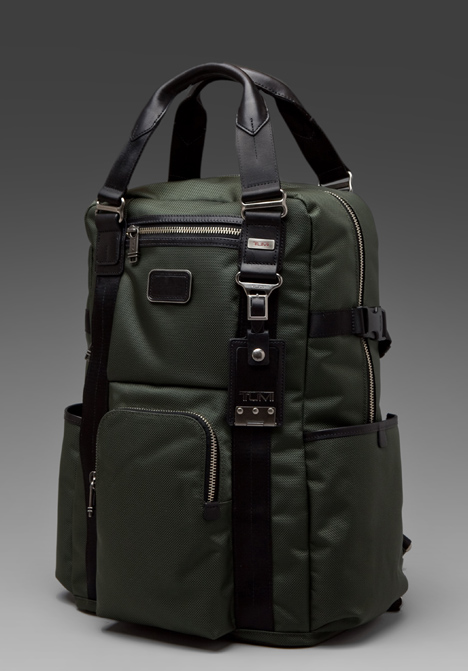 Tumi Alpha Bravo Lejeune Backpack Tote In Green Olive Lyst