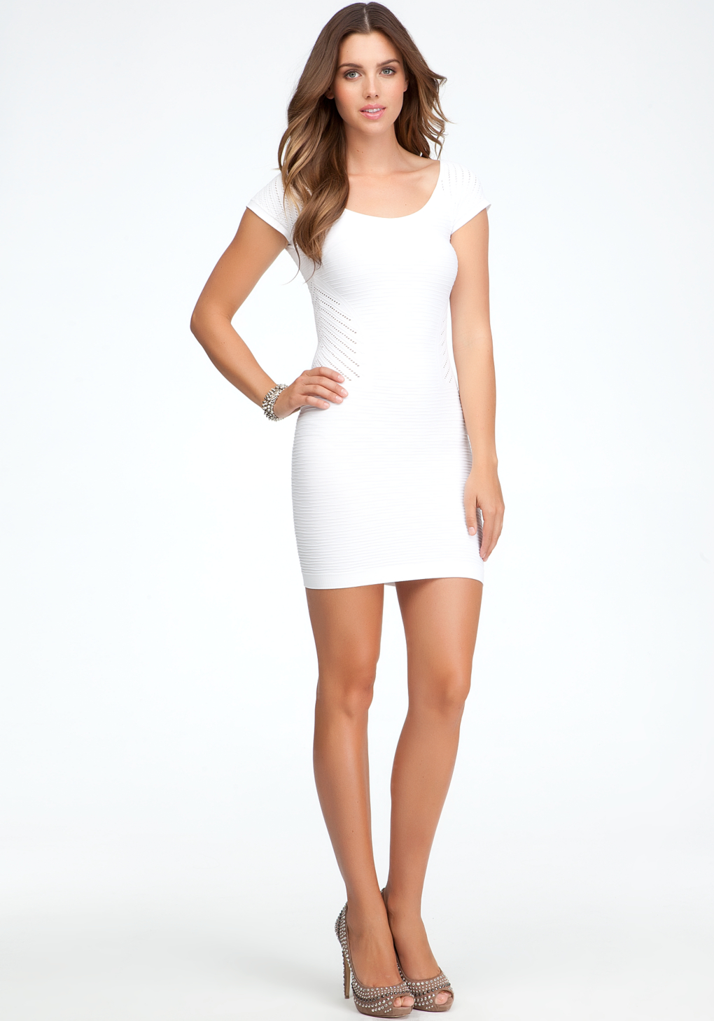 Without bodycon dress with gloves the front key