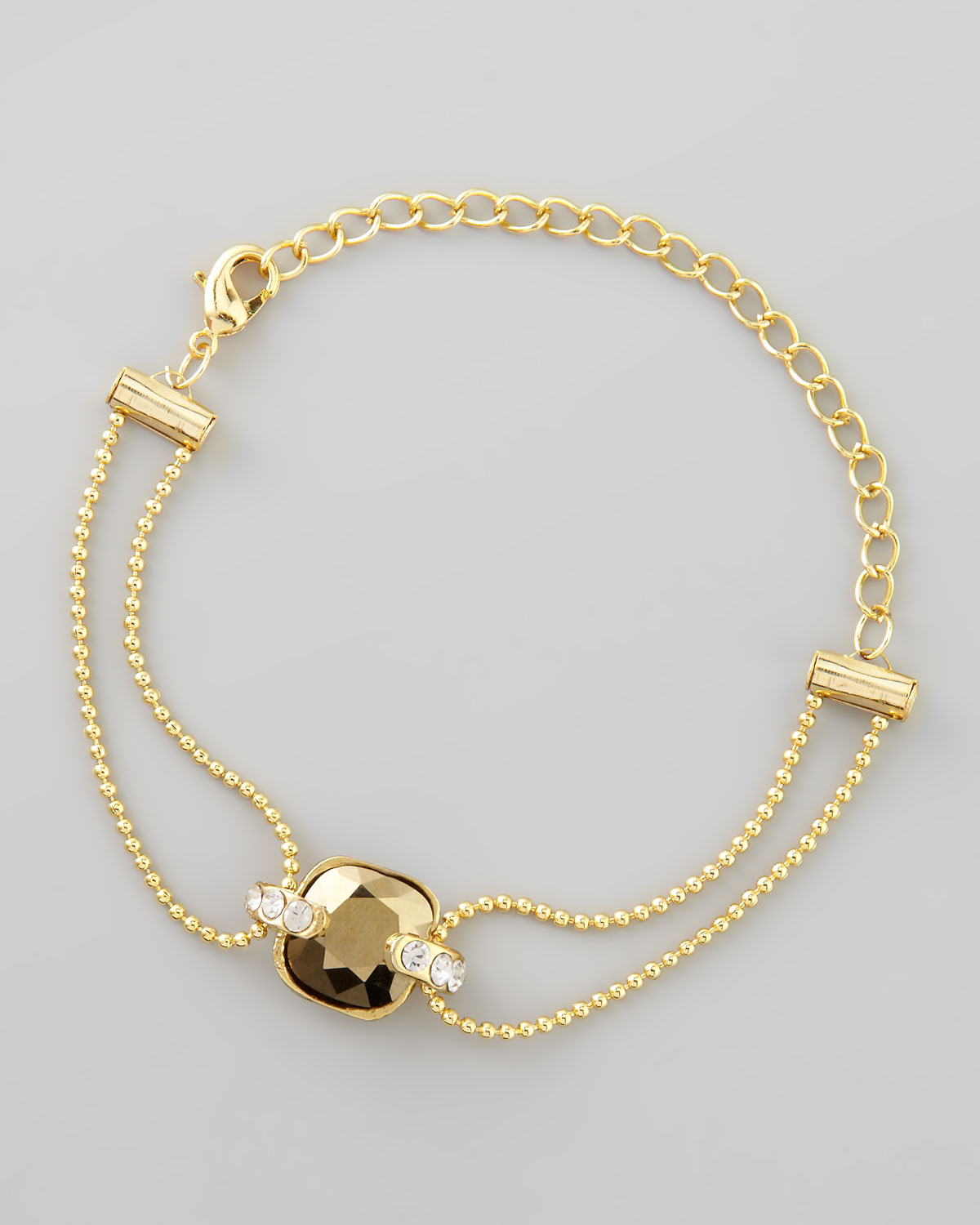 ball chain bracelet vermeil azendi triple jewellery rose