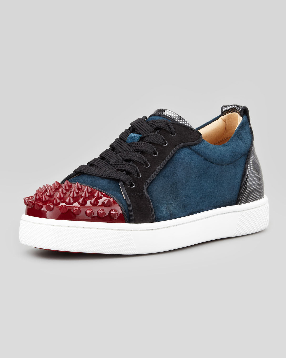 92766a1cfdc Lyst - Christian Louboutin Louis Junior Spikes Low-top Sneaker in ...