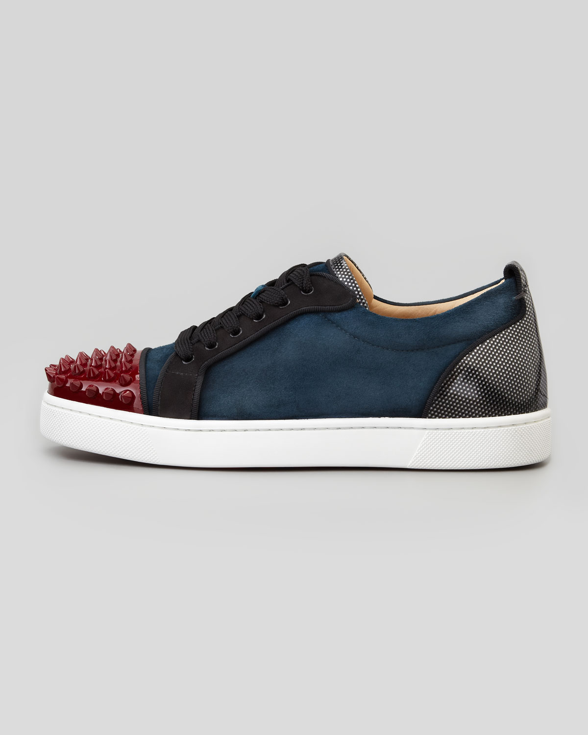 christian louboutin louis junior spikes low top sneaker
