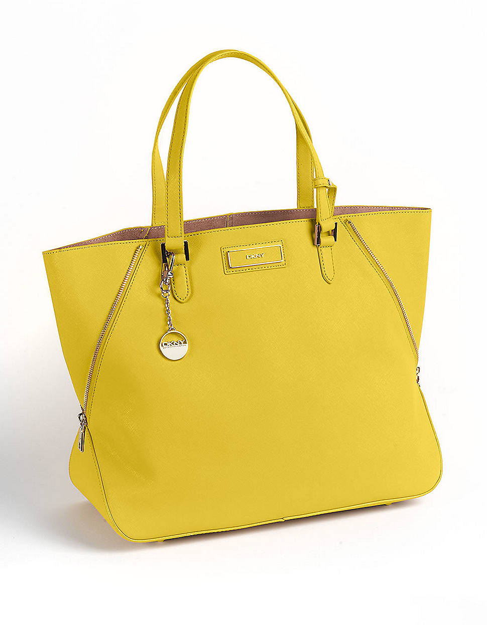 Dkny Leather Tote Bag In Yellow Lyst