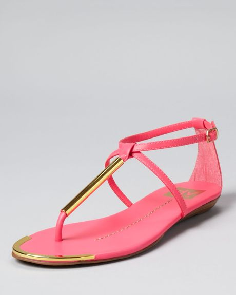 Dolce Vita Sandals Archer Flat In Pink Hot Pink Lyst