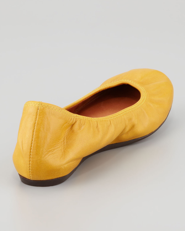 Lanvin Classic Leather Ballerina Flat