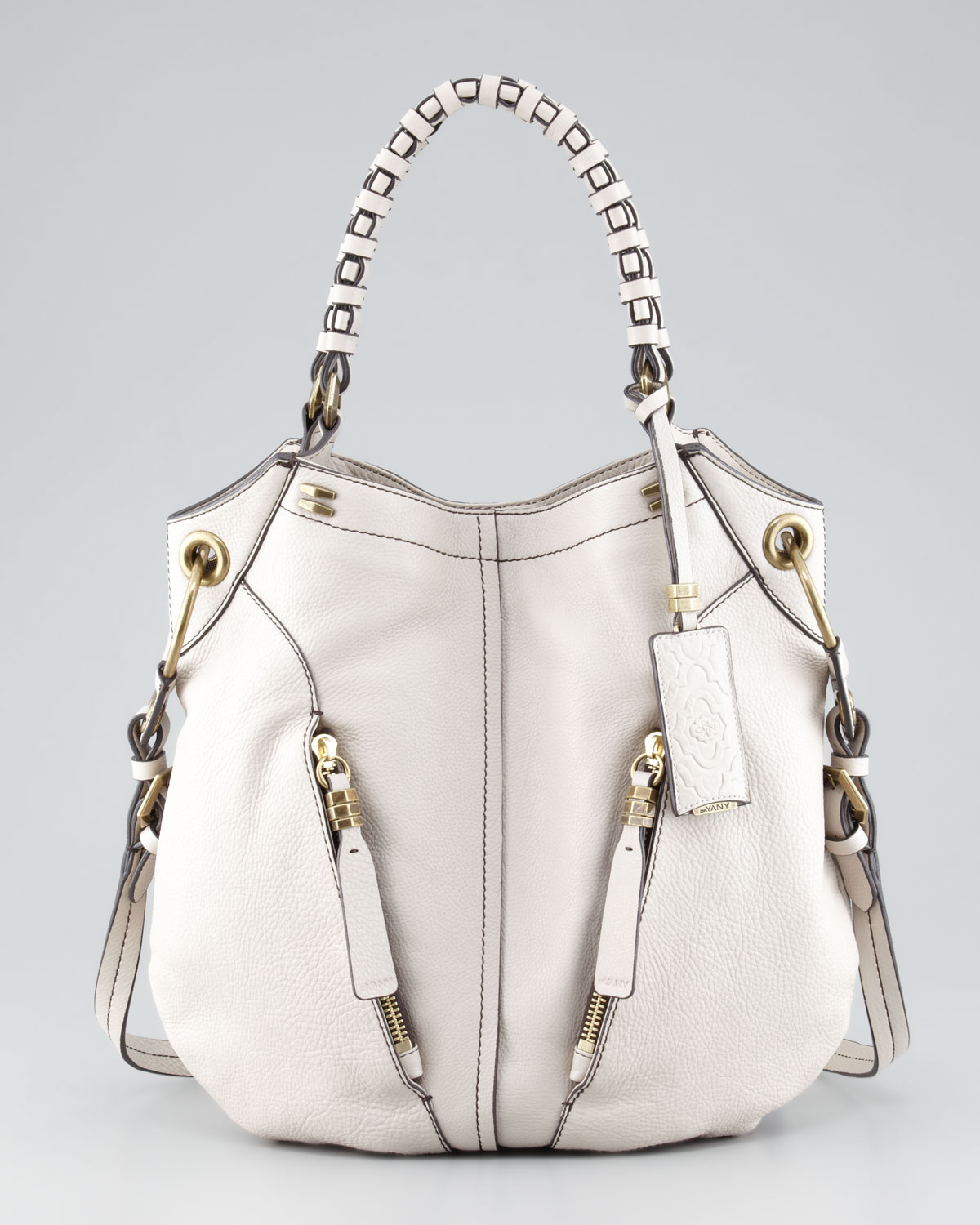 Oryany Gwen Leather Shoulder Bag in White | Lyst