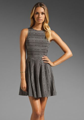 Tibi Fair Isle Knit Dress in Black Multi - Lyst
