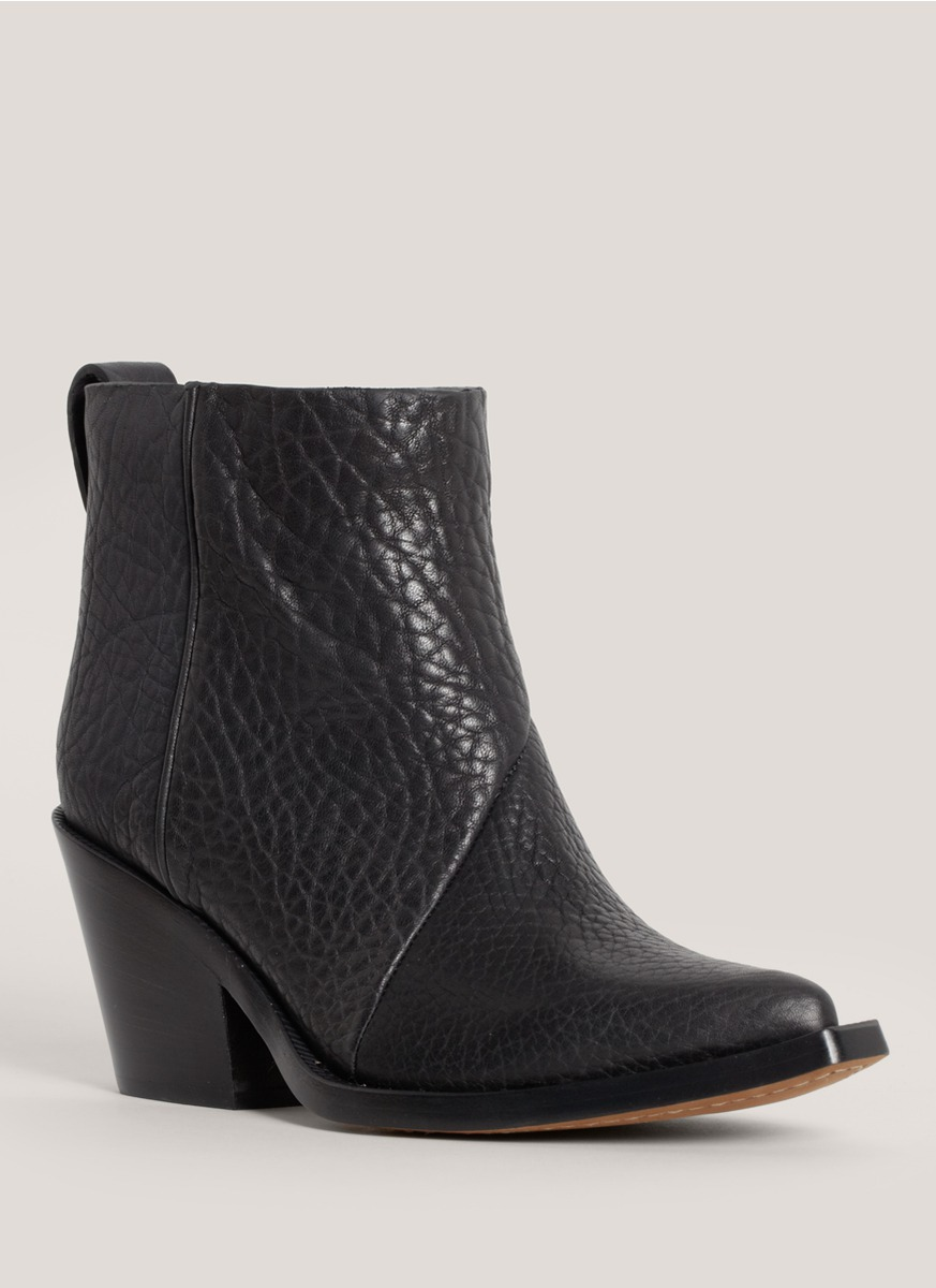 acne studios donna leather cowboy ankle boots in black lyst