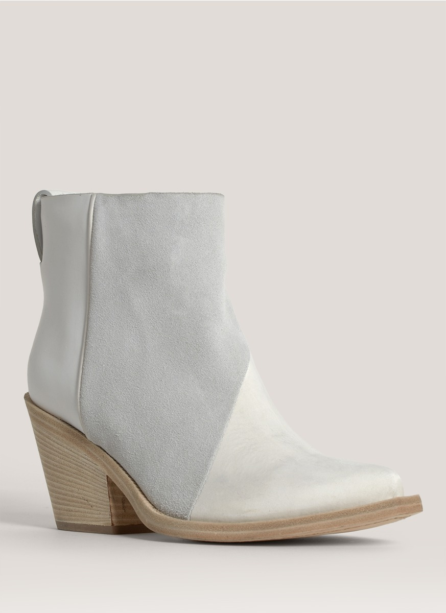 bd51b6993021e Lyst - Acne Studios Donna Leather Cowboy Ankle Boots in White