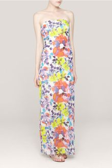 Strapless Maxi Dress on Alice   Olivia Koko Strapless Maxi Dress In Multicolor  Cruise Floral