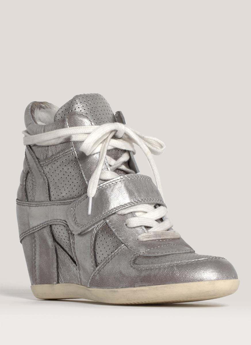 Ash Bowie Metallic Wedge Sneakers - Lyst