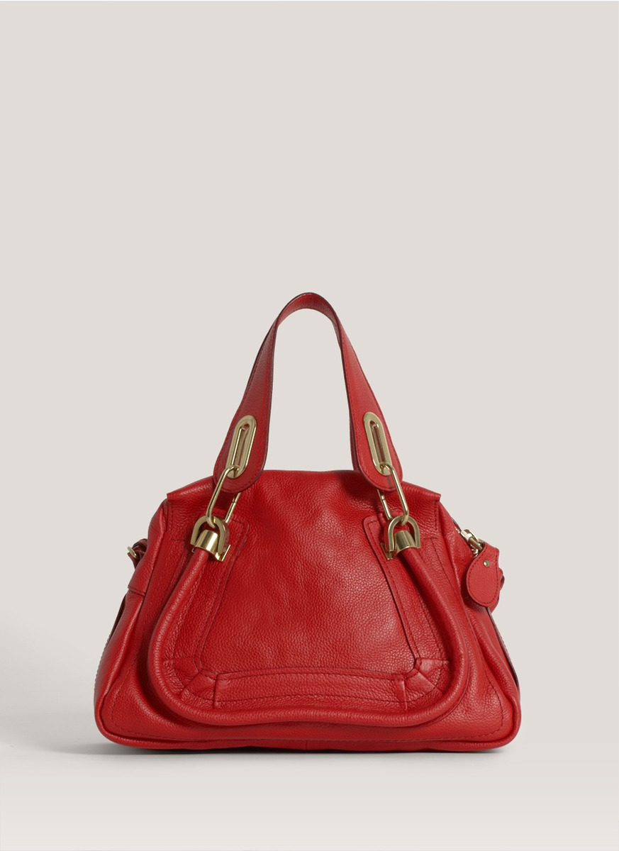 Chlo 233 Paraty Small Leather Bag In Red Lyst