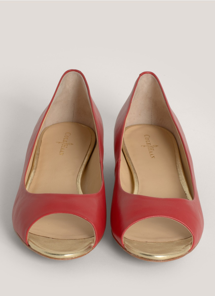 Red Leather Flat Shoes Uk