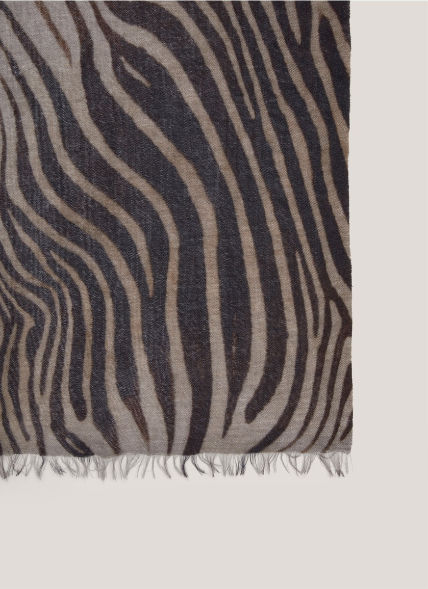 franco zebra print blend scarf lyst