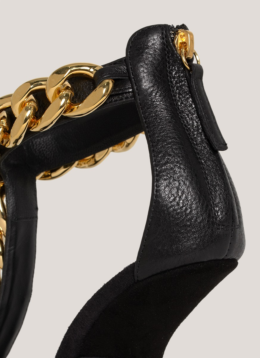 cf7b66f0f025 ... coupon code for lyst giuseppe zanotti chain detail high heel sandals in  black 72014 0367b