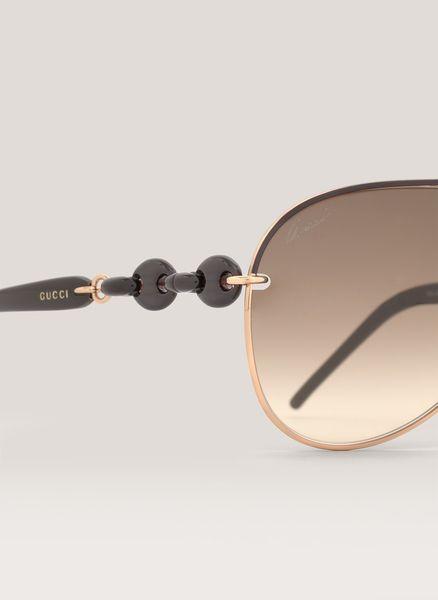Gucci White Metal Aviator Sunglasses   ISEFAC Alternance 8cb98930b8