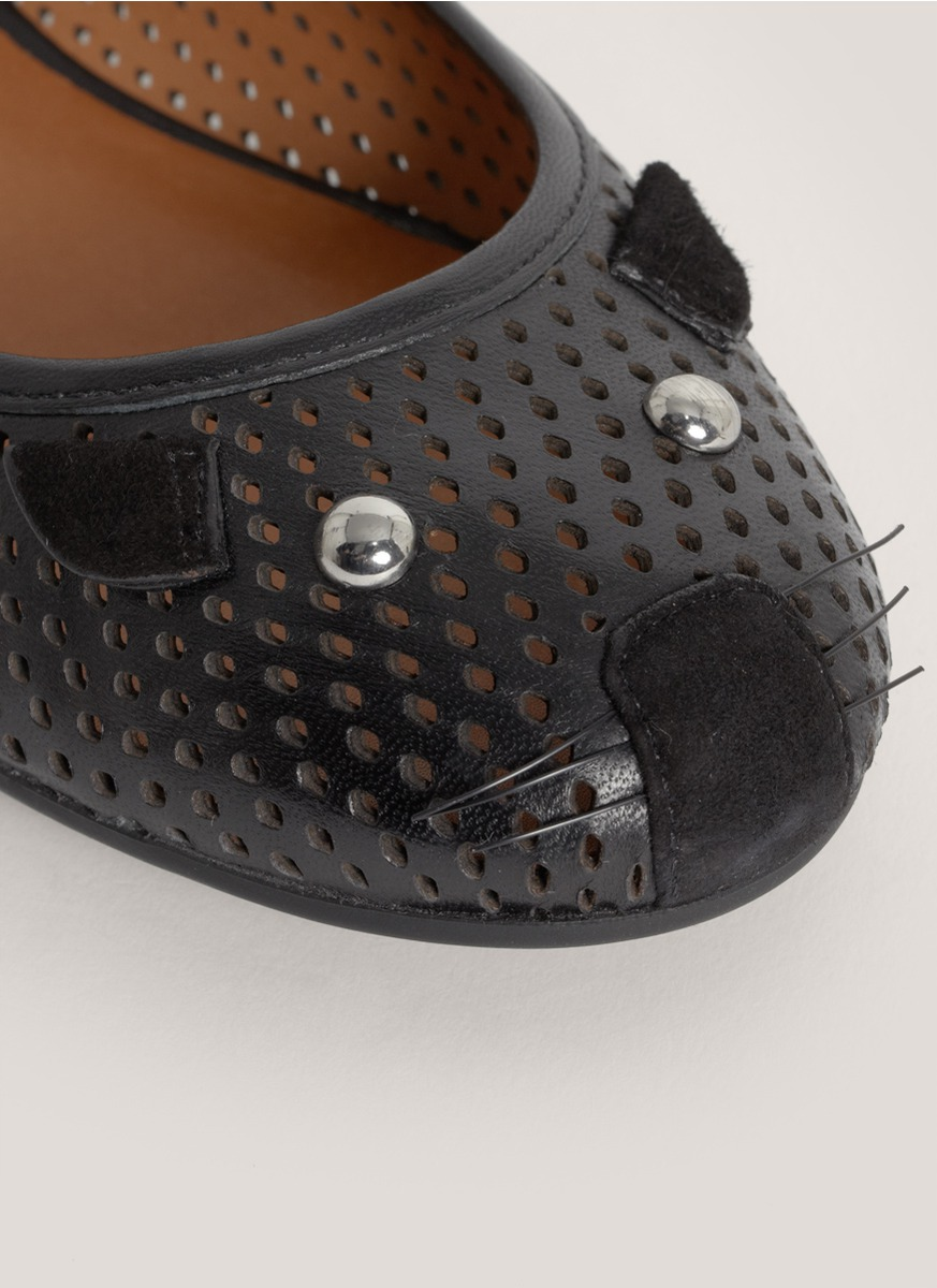 Marc By Marc Jacobs Perforated Mouse Ballerina Flats in