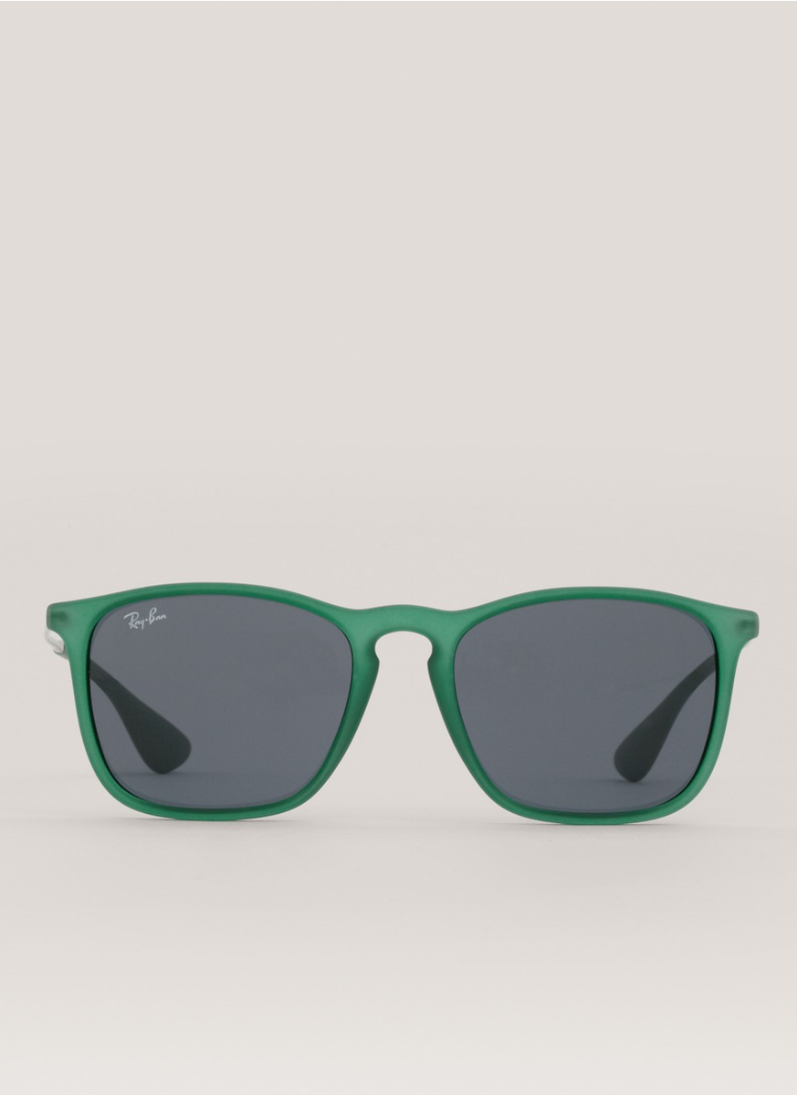 Ray Ban Chris Square Frame Sunglasses In Green Lyst