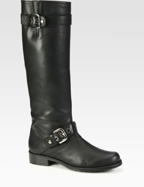 Stuart Weitzman Troopzip Buckle Boots in Black