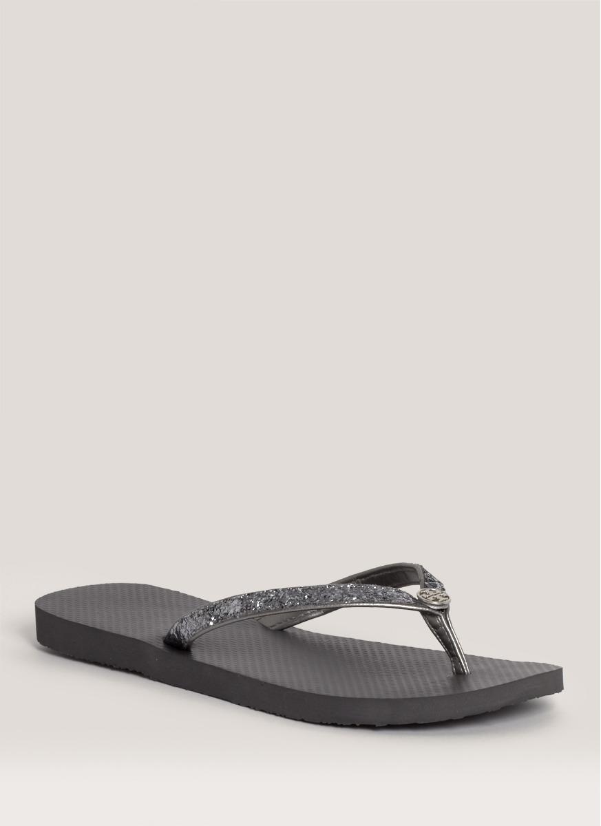 Tory Burch Adia Glitter Flip-Flops In Black,Metallic -6900