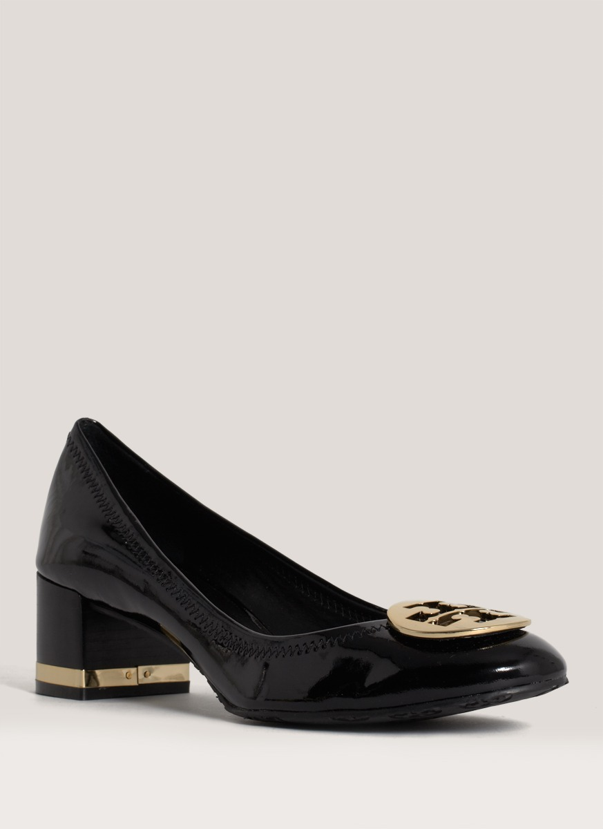 086c32fb27567d Lyst - Tory Burch Amy Patent-leather Pumps in Black