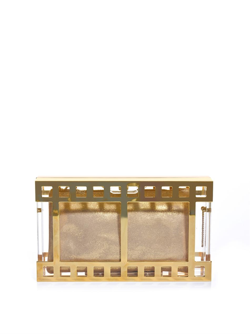 Box Office Buz: Charlotte Olympia Box Office Pandora Clutch In Gold