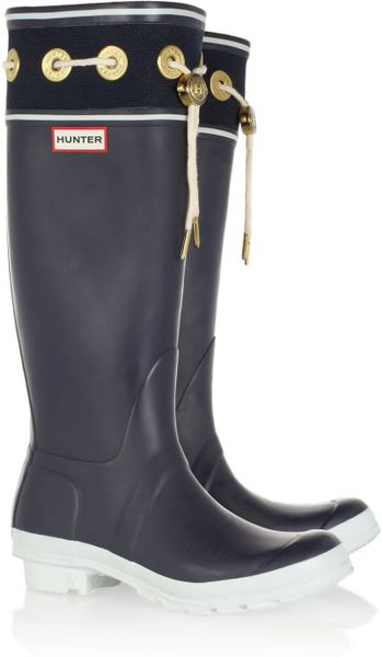 Hunter Thurlestone Wellington Boots In Blue Navy Lyst