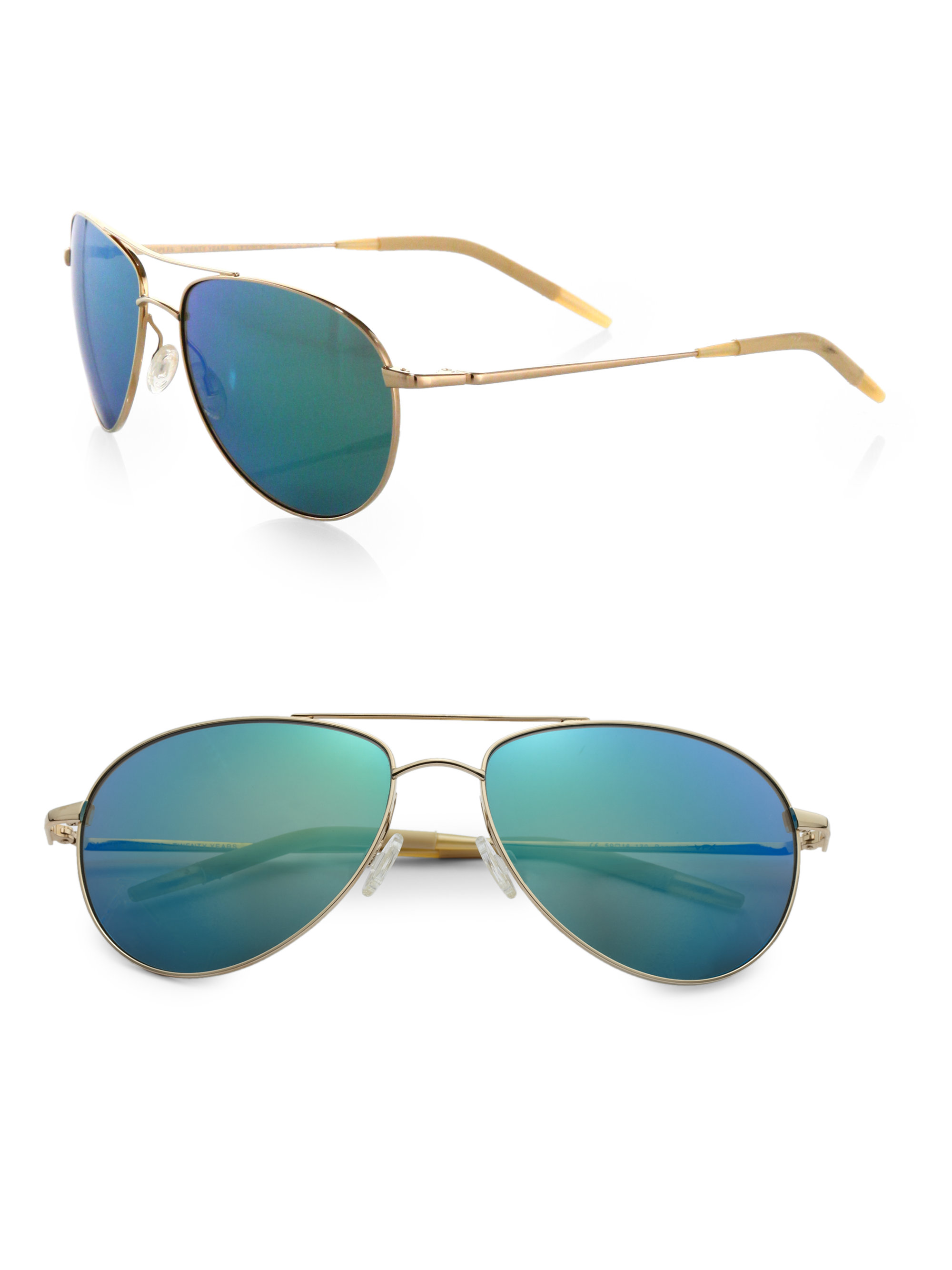 80996b62a51 Green Aviator Sunglasses Oliver Peoples « Heritage Malta