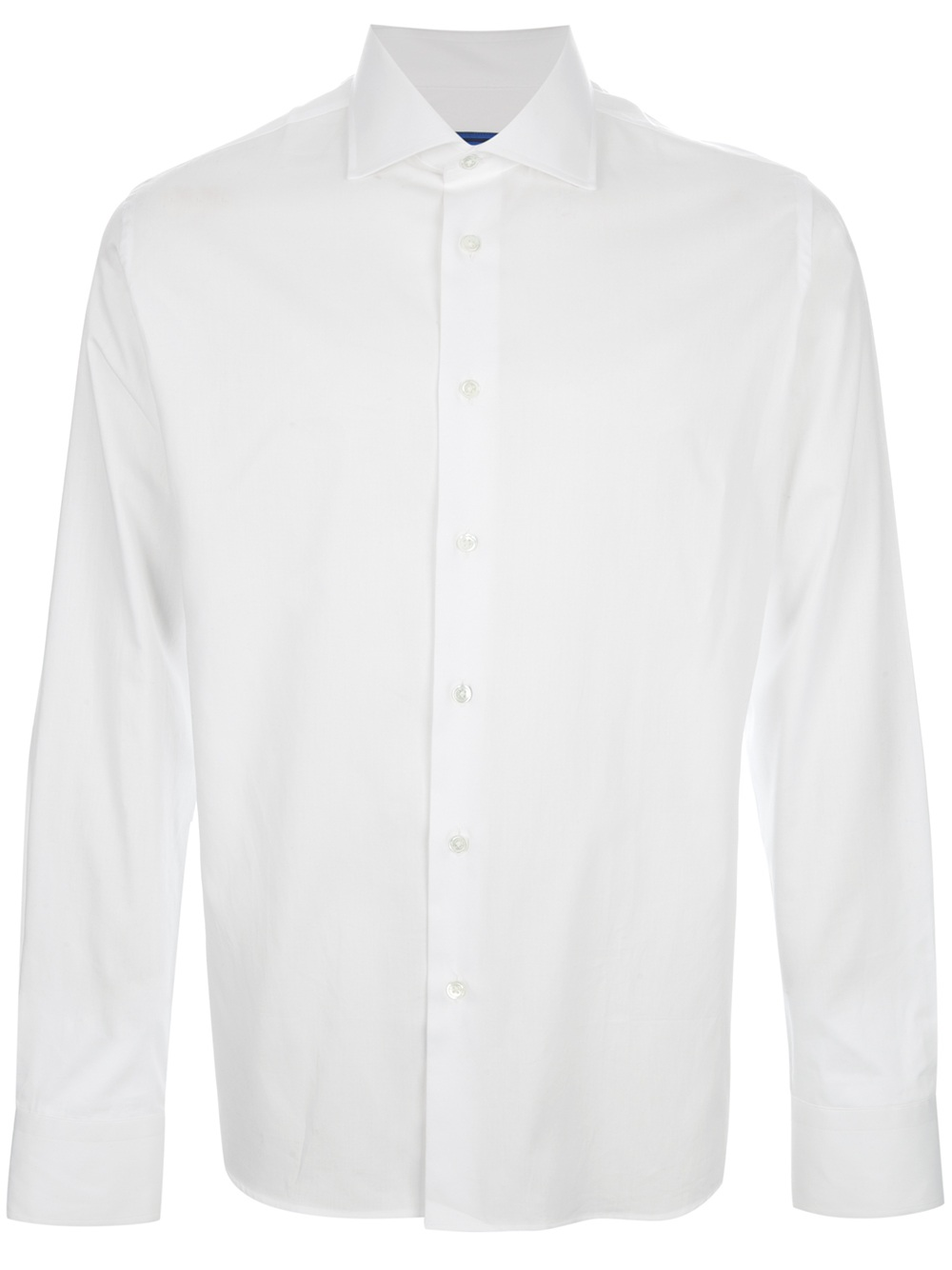 Stephen f cutaway collar shirt in white for men lyst for White cutaway collar shirt