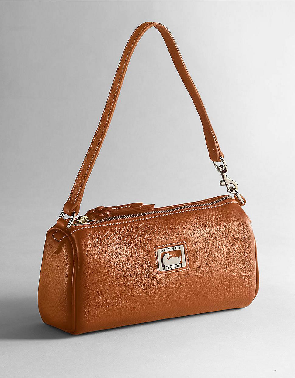 Dooney & Bourke Leather Mini barrel Handbag in Desert (Brown) - Lyst