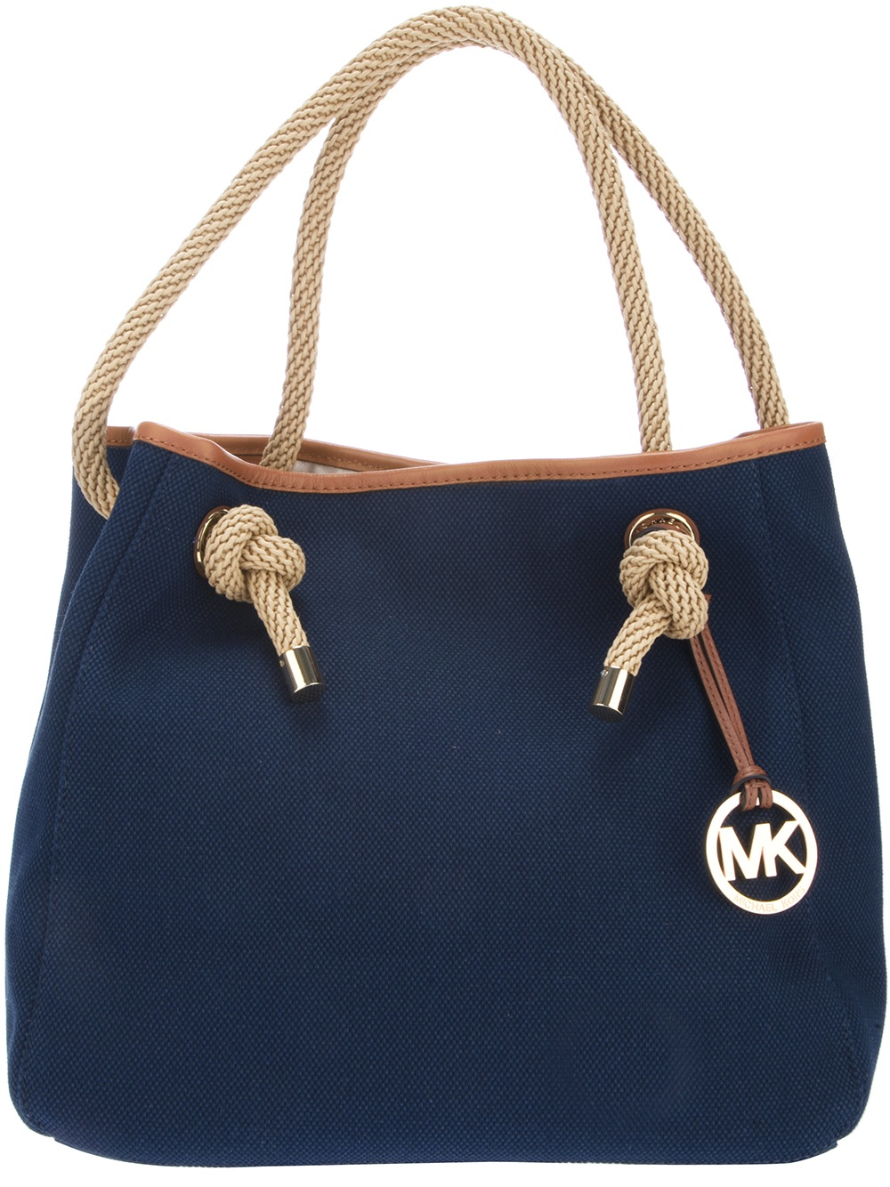 michael michael kors rope handle shopper tote in blue lyst. Black Bedroom Furniture Sets. Home Design Ideas