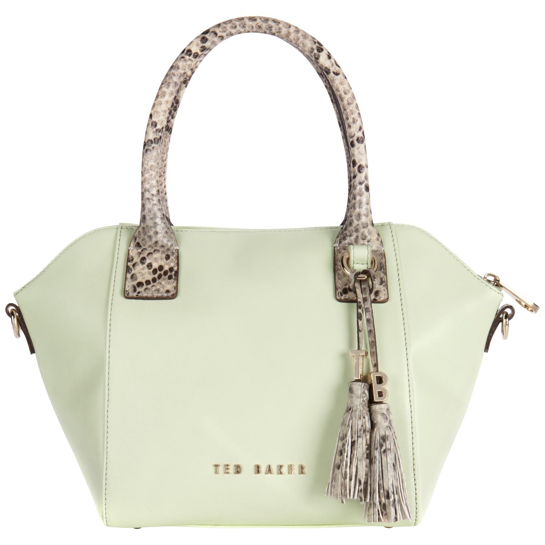 cfcc0cc04cc Ted Baker Tazzler Exotic Tassel Mini Tote Bag in Green - Lyst