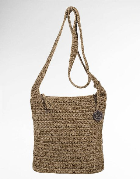 The Sak Casual Classics Crochet Crossbody Bag in Brown (taupe) Lyst