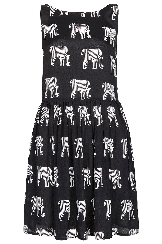 Topshop Elephant Ladder Back Dress In Black Lyst