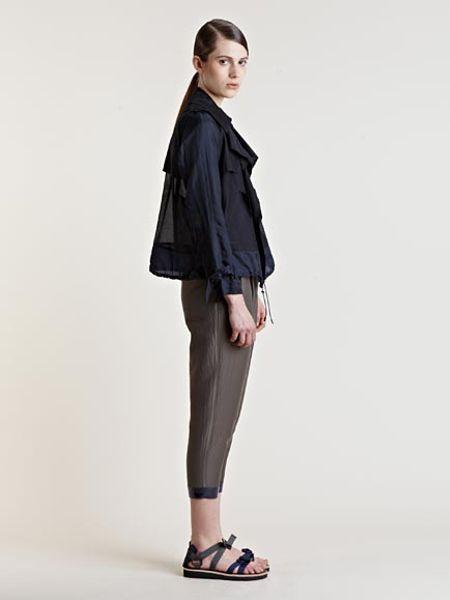 Kolor Womens Silk Blouson Jacket in Black   Lyst