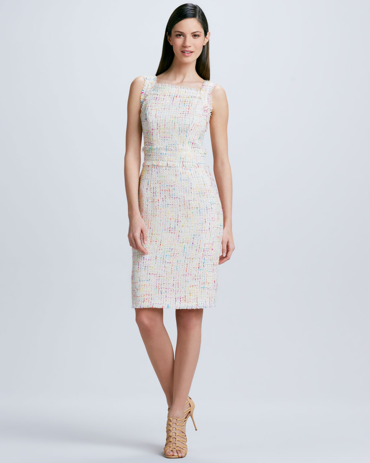 Theia ombre petal cocktail dress