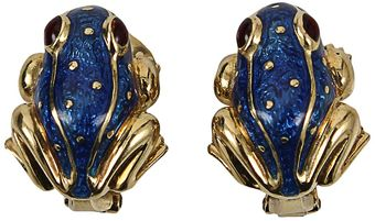 David Webb Frog Earring - Lyst