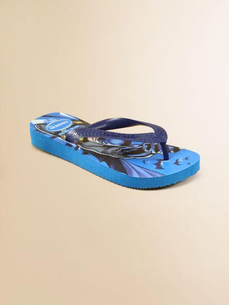 Havaianas Little Boys Boys Batman Flip Flops In Blue