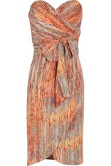 Catherine Malandrino Printed Stretch Silk Dress