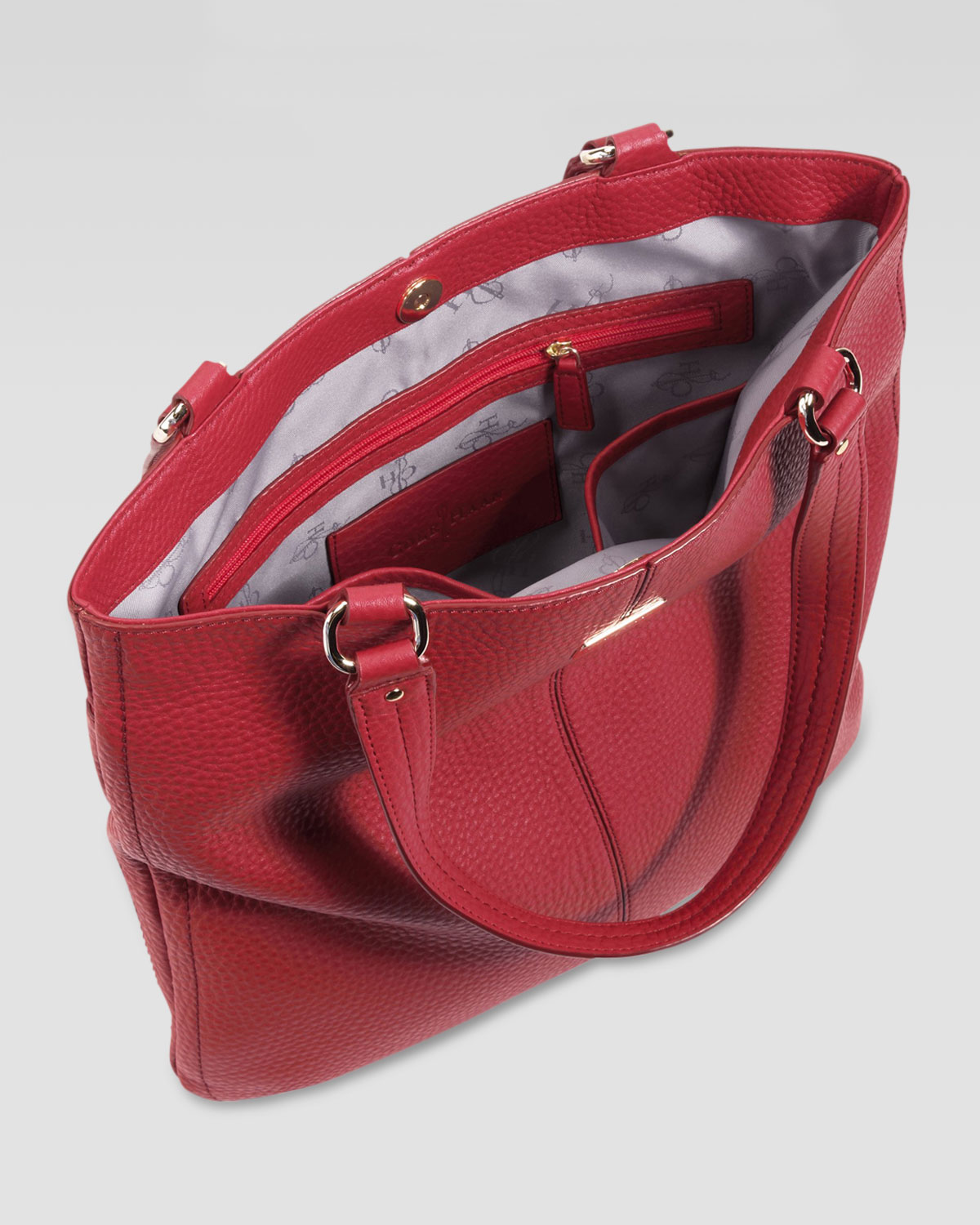9f2ce7b1b9 Lyst - Cole Haan Village Flat Tote Bag in Red