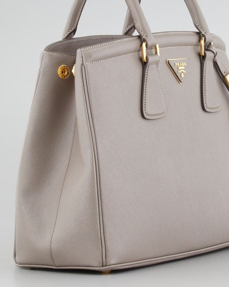 Prada Saffiano Parabole Tote Bag in Gray