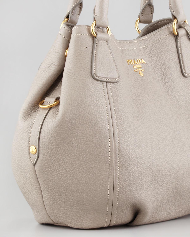 Lyst Prada Daino Medium Shoulder Tote Bag In Gray