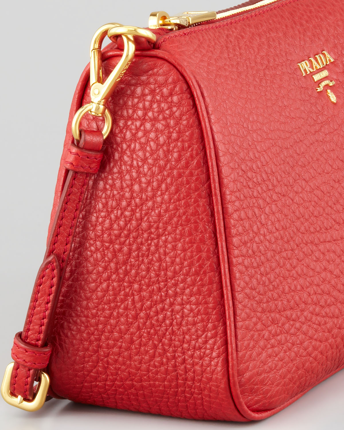 5fec8ae97eed ... best lyst prada daino small shoulder bag in red 24c73 ce71e